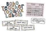 Boho Teacher Toolbox Labels