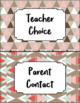 Boho Theme Behavior Clip Chart