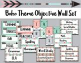 Boho Theme Objective Wall Set