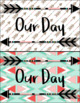 Boho Theme Schedule Cards