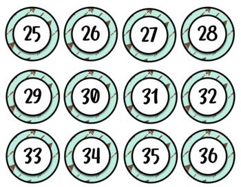 Boho Theme Student Numbers