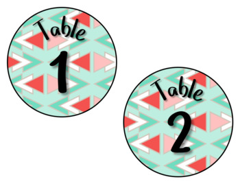 Boho Theme Table Numbers
