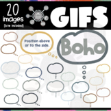 Boho Thinking Thought Bubbles GIFs | Editable ANIMATED Clipart
