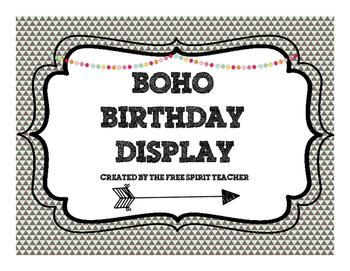 Boho/Tribal Birthday Display