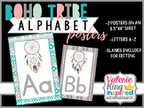 Boho Tribe Collection: Alphabet Posters