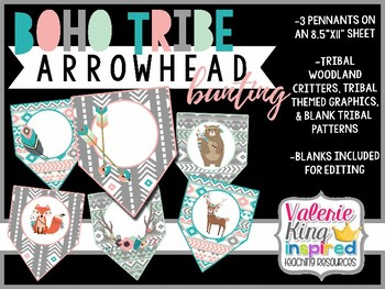 Boho Tribe Collection: Arrowhead Bunting Banner