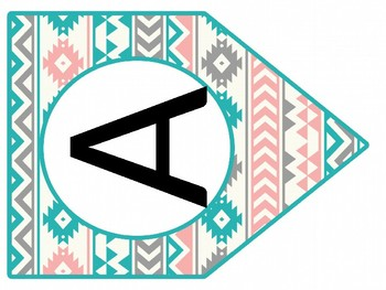 A through Z  Banner Printable Tribal Party Decor Create Your Own Banner Tribal Bunting Boho Banner INSTANT DOWNLOAD Tribal Banner