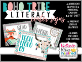 Boho Tribe Collection: Literacy Center Signs