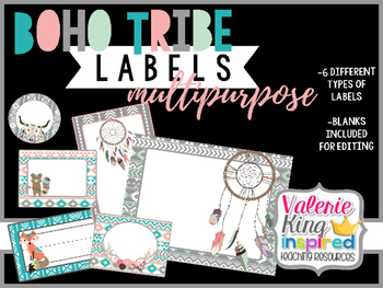 Boho Tribe Collection: Multipurpose Labels
