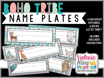 Boho Tribe Collection: NamePlates