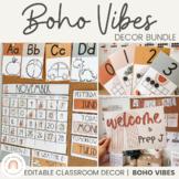 Modern BOHO VIBES Classroom Decor | Desert Neutral Decor Bundle | Editable!