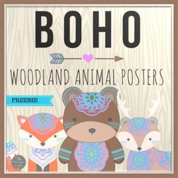 Boho Woodland Animal Decor Freebie
