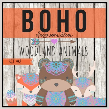 Boho Woodland Classroom Decor Set 3