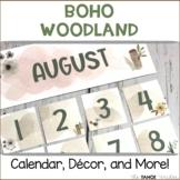 Boho Woodland Classroom Decor, Calendar, and More