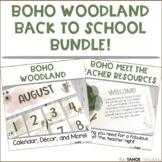 Boho Woodland Classroom Decor and Meet the Teacher Bundle