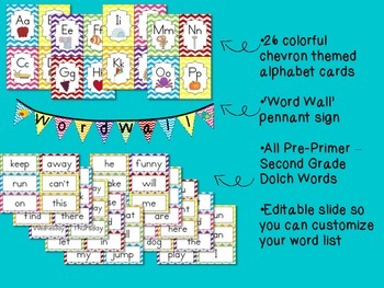 Boho Word Wall - Colorful - Dolch Words