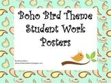 Boho birds Student Work Posters