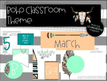 Boho classroom theme