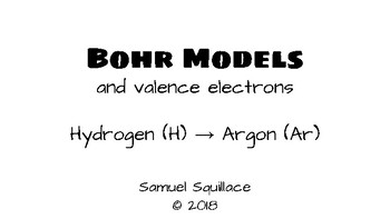 Bohr Atomic Models (Hydrogen through Argon)