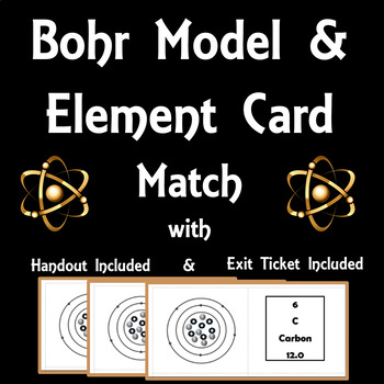 Bohr Model & Element Card Match  (Structure of an Atom 8.5A)