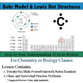 Bohr Model & Lewis Dot Structure Lesson and Notes