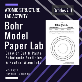 Bohr model paper lab draw or cut paste particles neutral atom info ccuart Gallery
