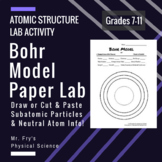 Bohr Model Paper Lab - Draw or Cut & Paste Particles + Neu