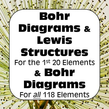 Bohr Models & Bohr-Rutherford Diagrams & Lewis Dot Diagrams No Prep Bundle