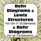 Bohr Models & Bohr Rutherford Diagrams & Lewis Dot Diagrams No Prep Bundle