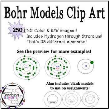 Bohr models teaching resources teachers pay teachers ccuart Images