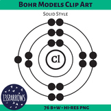 Bohr Models Clip Art, Solid Style