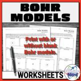 Bohr Models Worksheets   Printable and Digital