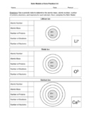 Bohr Models of Ions Practice -Free Sample