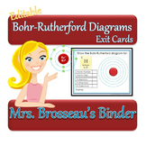 Bohr-Rutherford Diagrams Exit Cards - EDITABLE!