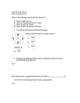 Bohr Rutherford and Lewis Diagram Quiz