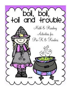 Boil, Boil, Toil and Trouble Math And Reading Activities