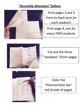Boiling/Freezing Point of Water Interactive Notebook PAGE