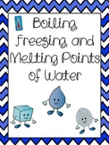 Boiling, Melting, and Freezing Points of Water Activity