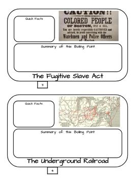 Boiling Points to the Civil War Google Drive - Interactive Notebook Possibility