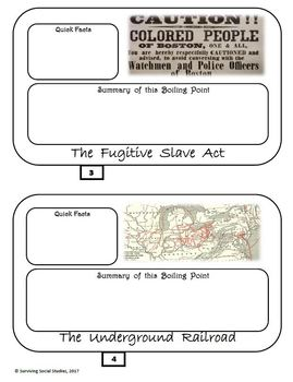 Boiling Points to the Civil War in .pdf - Interactive Notebook Possibility