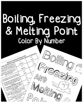 Boiling and Freezing/Melting Point Color By Number (TEKS 5.5B)