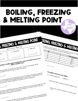 Boiling and Freezing/Melting Point (TEKS 5.5B)