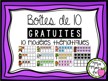 Boîtes de 10 - Gratuites