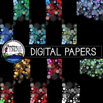 Bokeh Background Papers Clipart Bundle