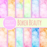 Bokeh Backgrounds - Glowy, Bright Lights Background / Digital Papers Clipart