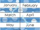 Bokeh Blue Classroom Decor Bundle (Editable)