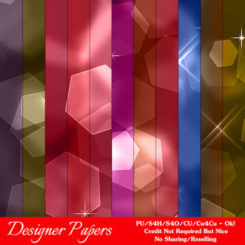 Bokeh Colorful Pattern 1 Digital Papers Package