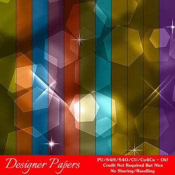 Bokeh Colorful Pattern 2 Digital Papers Package