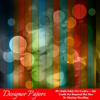 Bokeh Colorful Pattern 4 Digital Papers Package