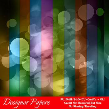 Bokeh Colorful Pattern 5 Digital Papers Package